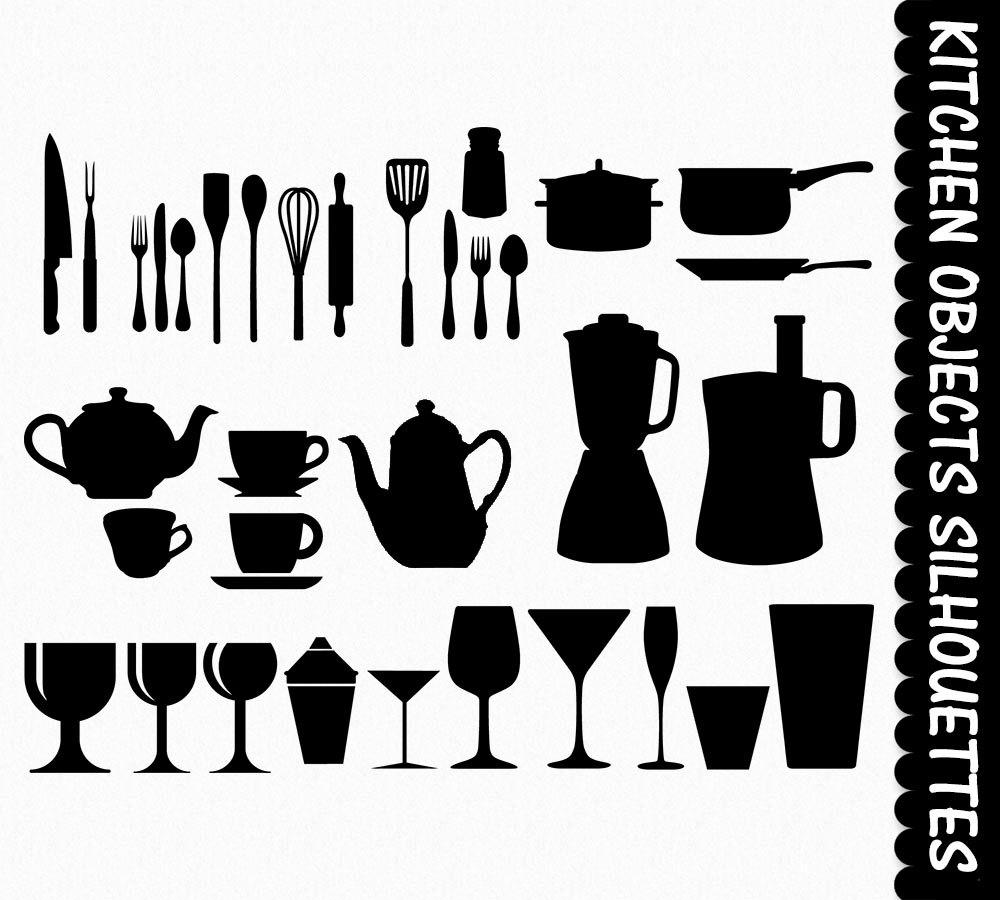 Kitchen clipart silhouette  Art Clipart Clip Digital