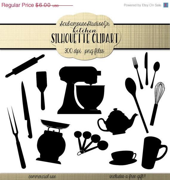 Kitchen clipart silhouette Silhouette 300 70% 70% Kitchen