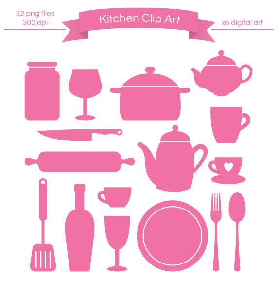 Kitchen clipart silhouette Silhouette art Kitchen Digital art