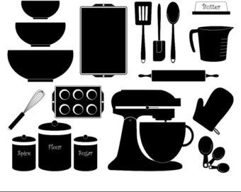 Kitchen clipart silhouette Etsy 80% Kitchen Digital Kitchen