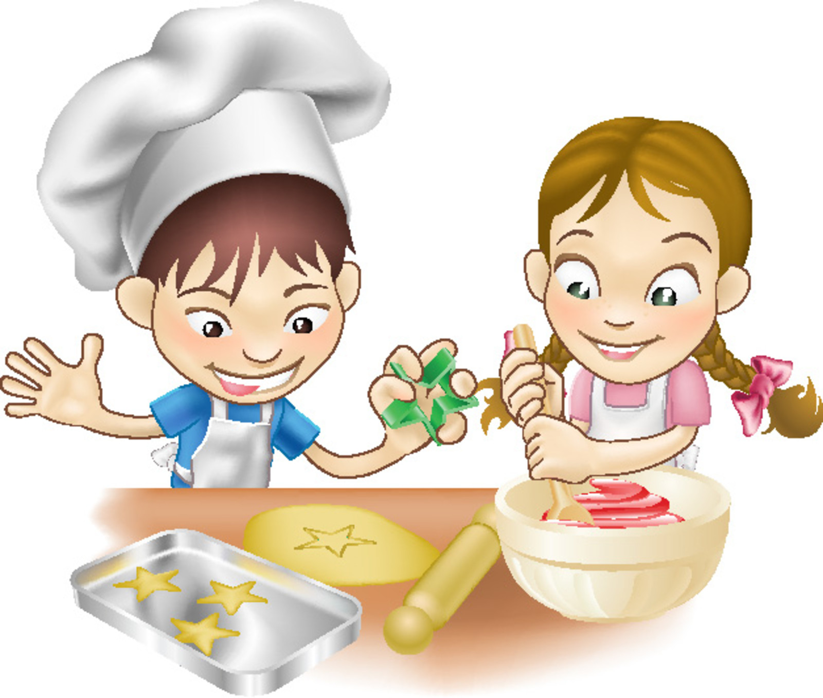 Kitchen clipart small Small cooking children sweet Little