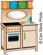 Kitchen clipart toy kitchen Vector toy 422  kitchen