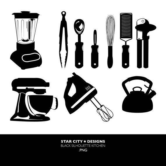 Kitchen clipart vector art Art for Art Black Graphics