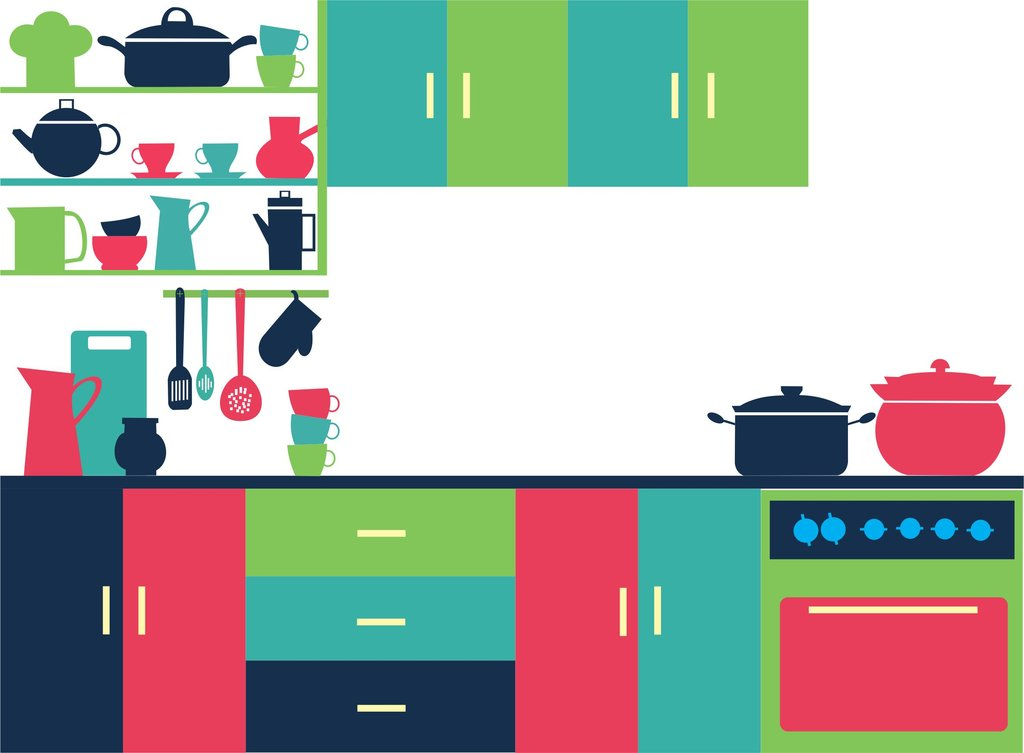 Kitchen clipart vector art LDS LDS Kitchen furniture Kitchen