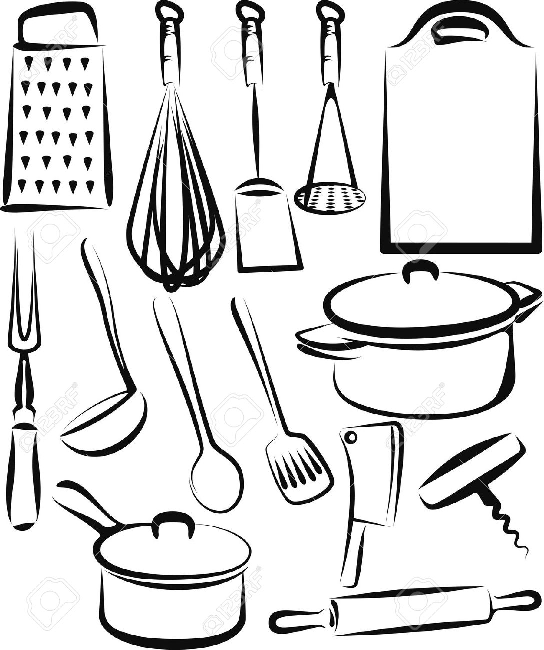Kitchen clipart vector art Stock Free Royalty Cliparts Utensil