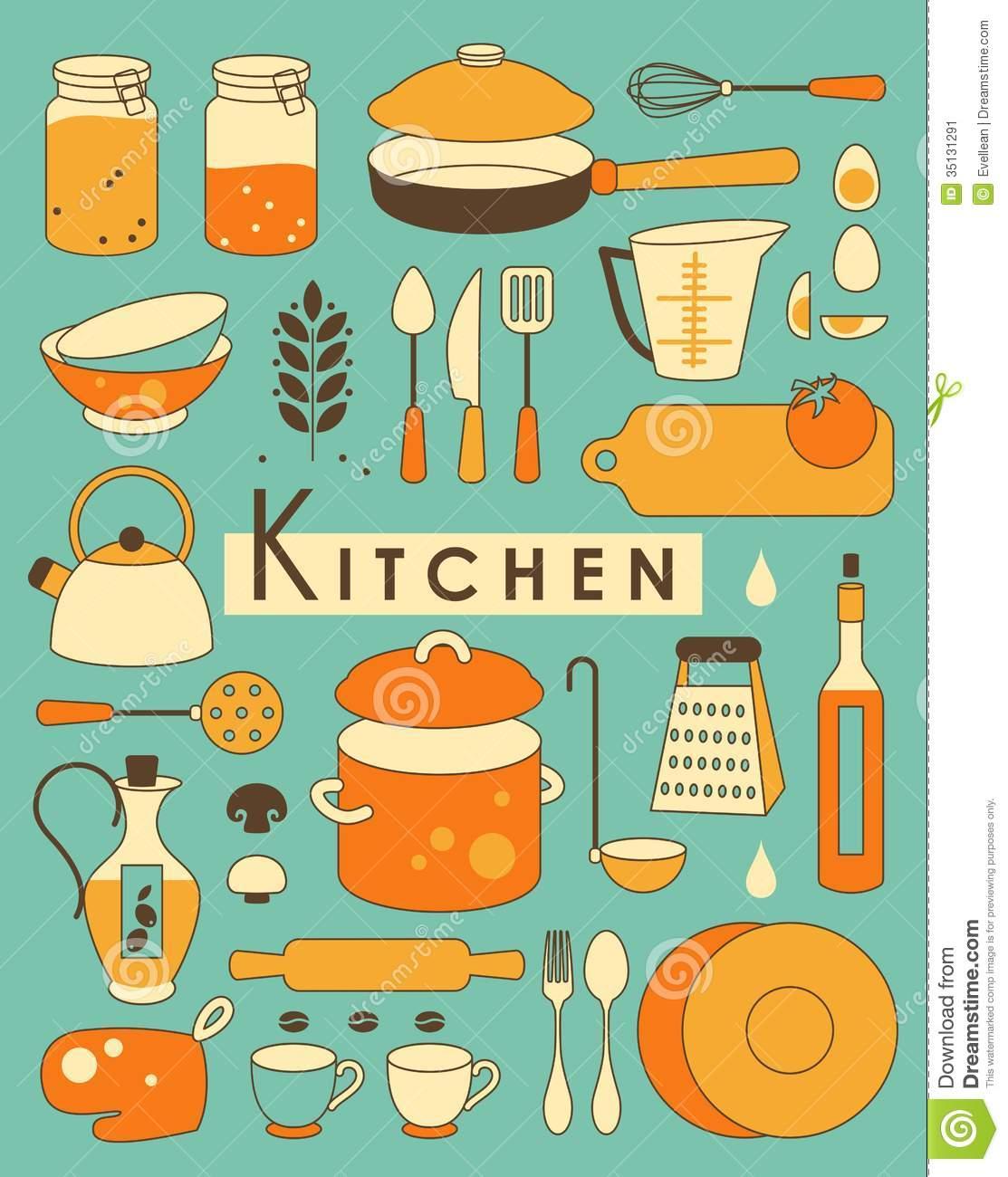 Kitchen clipart vintage kitchen Signs Clipart Clipart Retro Download