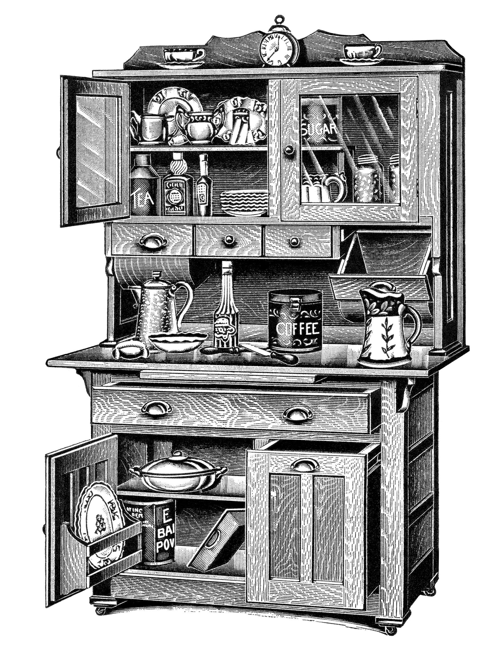 Kitchen clipart vintage kitchen 31 101 Vintage Kitchen Vintage