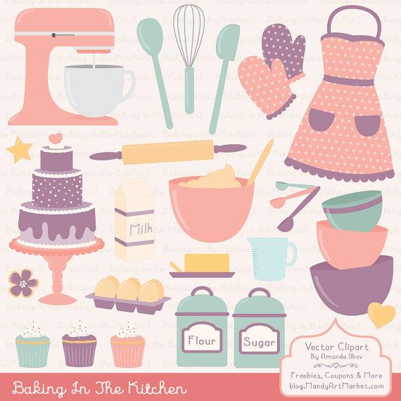 Kitchen clipart vintage kitchen & Clipart Vectors Baking Apron