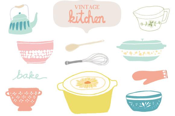 Kitchen clipart vintage kitchen Art Best Vintage Kitchen Vintage