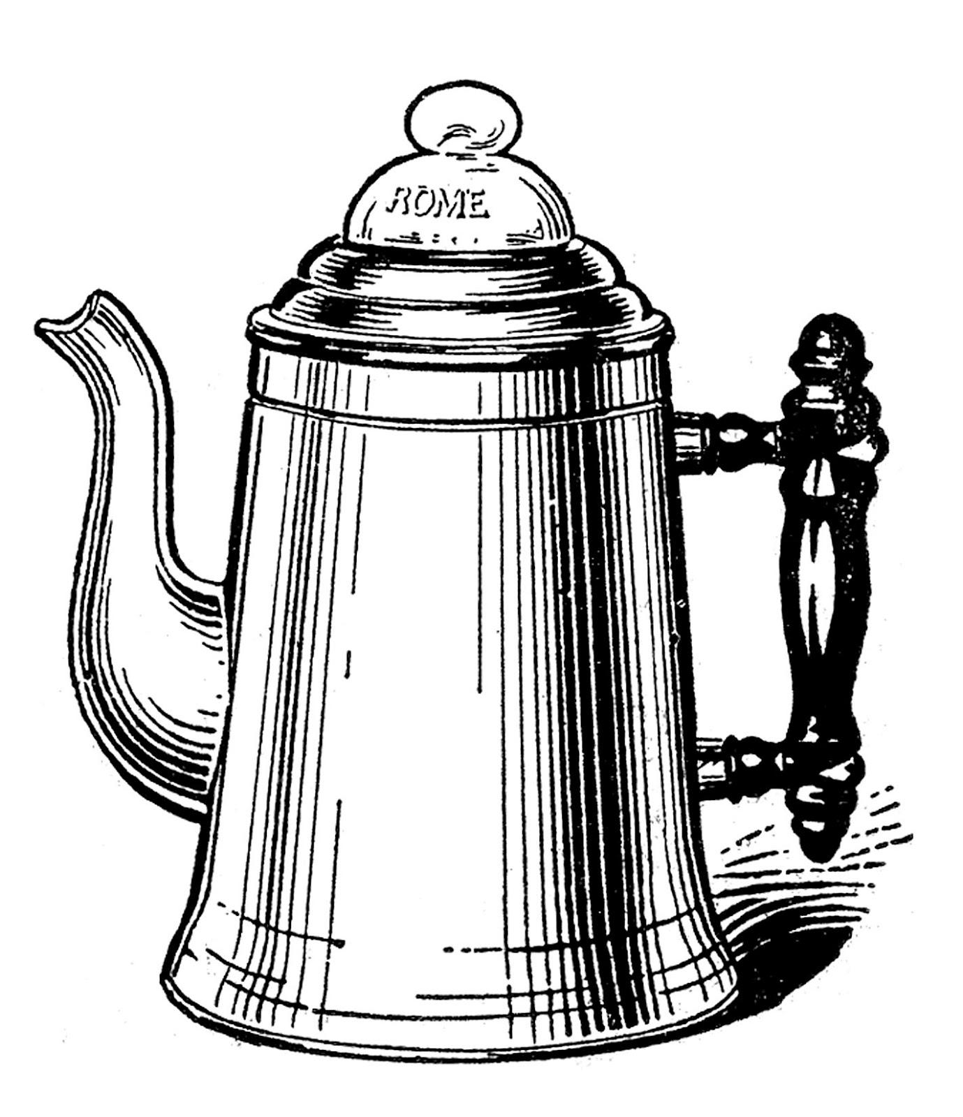 Coffee clipart vintage coffee Kettle Kitchen Clip Kettle Vintage