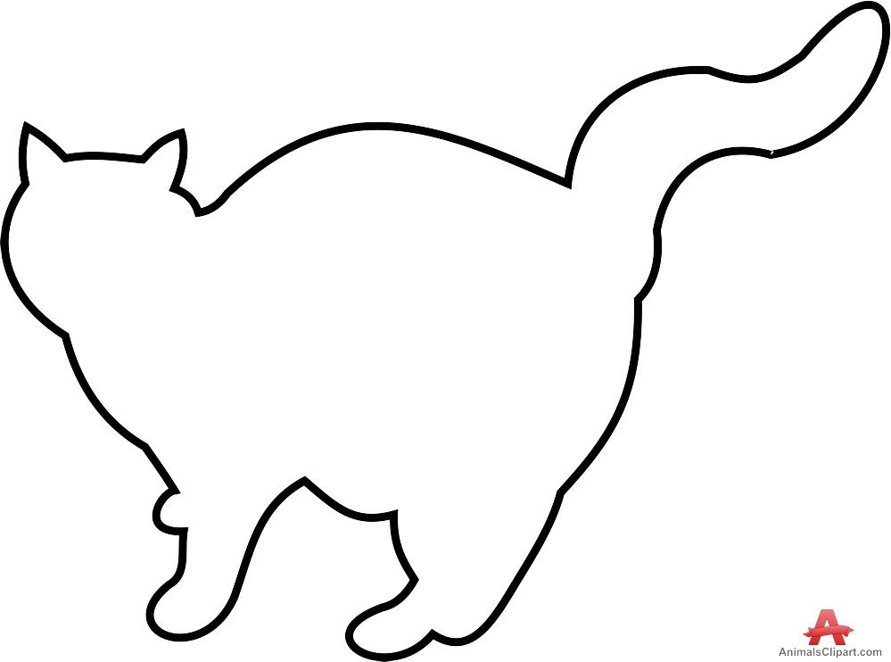 Cat clipart cat outline Cat Clipart Free Design Outline