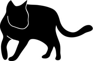 Cat clipart cat outline Cat Image: Clipart Cat Silhouette
