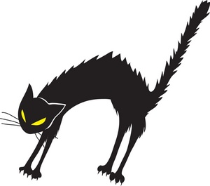 Black Cat clipart scared Cat Black cat black Angry