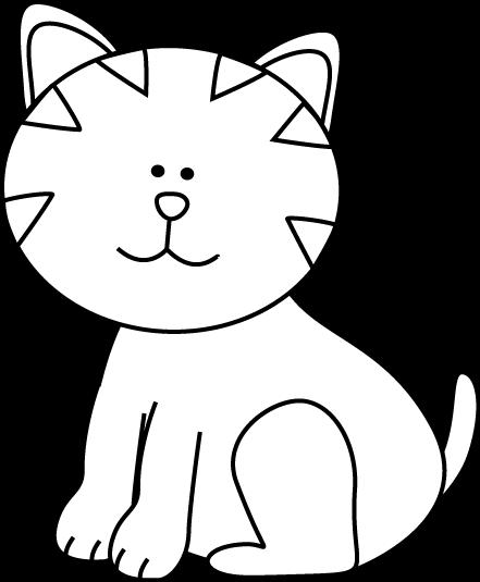 Line Art clipart kitten And Images White Art Panda