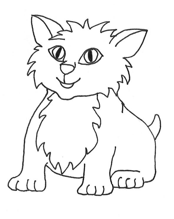 Black Cat clipart black kitten White Drawings Cat Sketches Cat