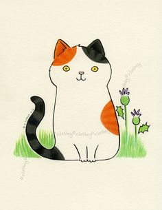 Cat clipart calico Kitten Acrylic Cat and more