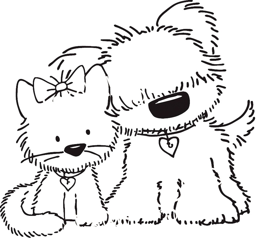 Sketch clipart puppy kitten And PuppiesClipartDigital Copic / Copic