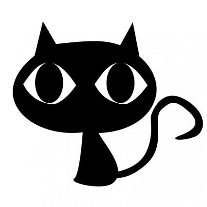 Black Cat clipart animated Eye cat eye Cartoon free