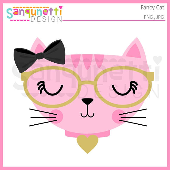 KITTENS clipart cat face On cat cat clipart clipart