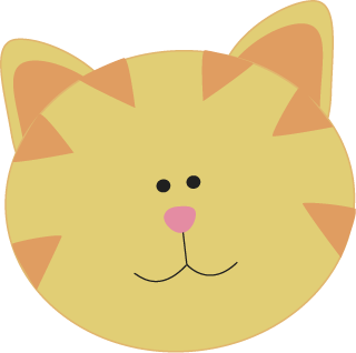 Realistic clipart cat face #7