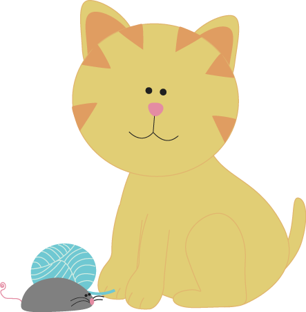 Cat clipart yellow Art Images a Cat and