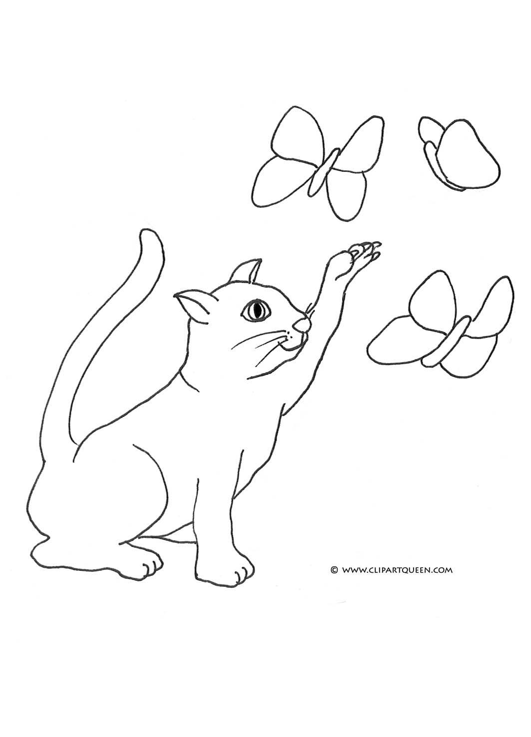 Cat clipart butterfly Coloring Cat butterflies Coloring Cat