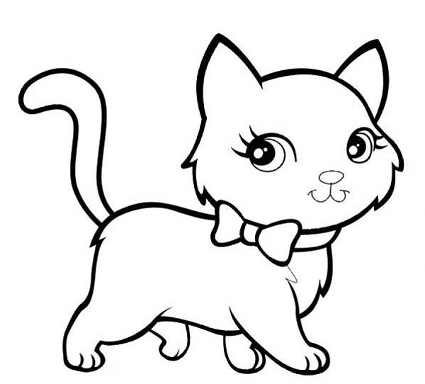 Color clipart cat Coloring Kitten Pages Kitten Pages