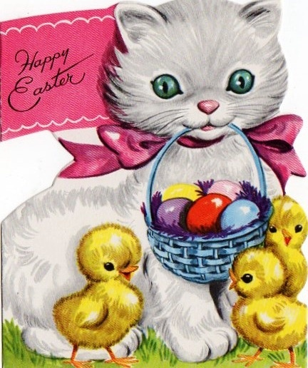 KITTENS clipart easter #eastercards best 54 #holidaycats about