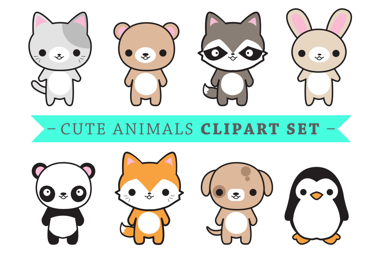 KITTENS clipart kawaii cat Instant Kawaii  Animals Cute