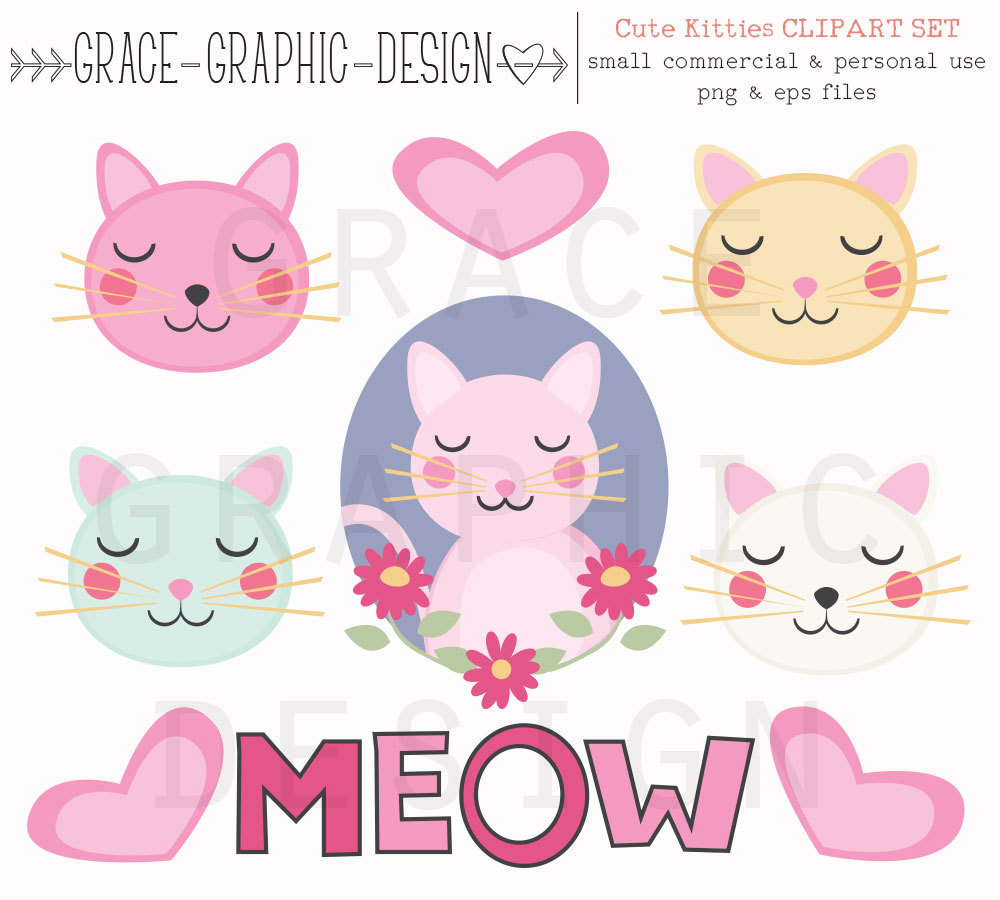 KITTENS clipart kawaii cat Cat Ginger Kawaii Cute Clipart