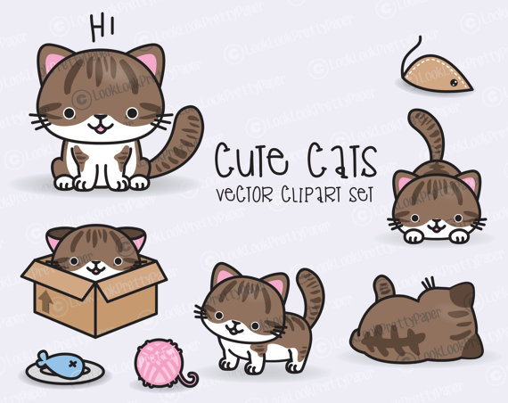KITTENS clipart kawaii cat Download Cats Clipart Cute Vector