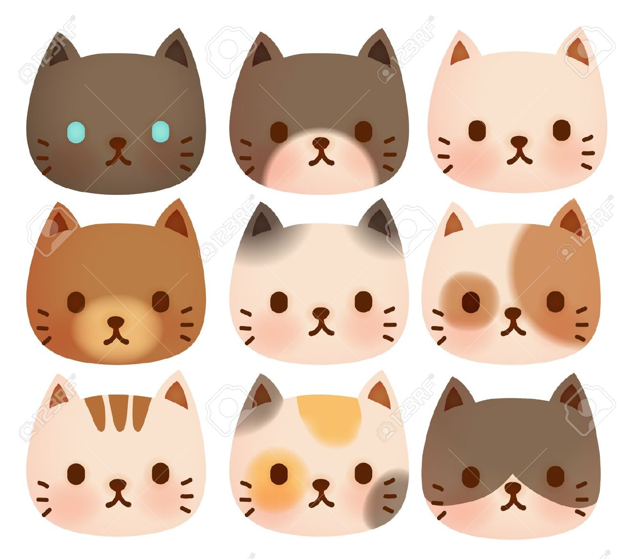 KITTENS clipart kitty face Cat Illustration Cat Royalty Free