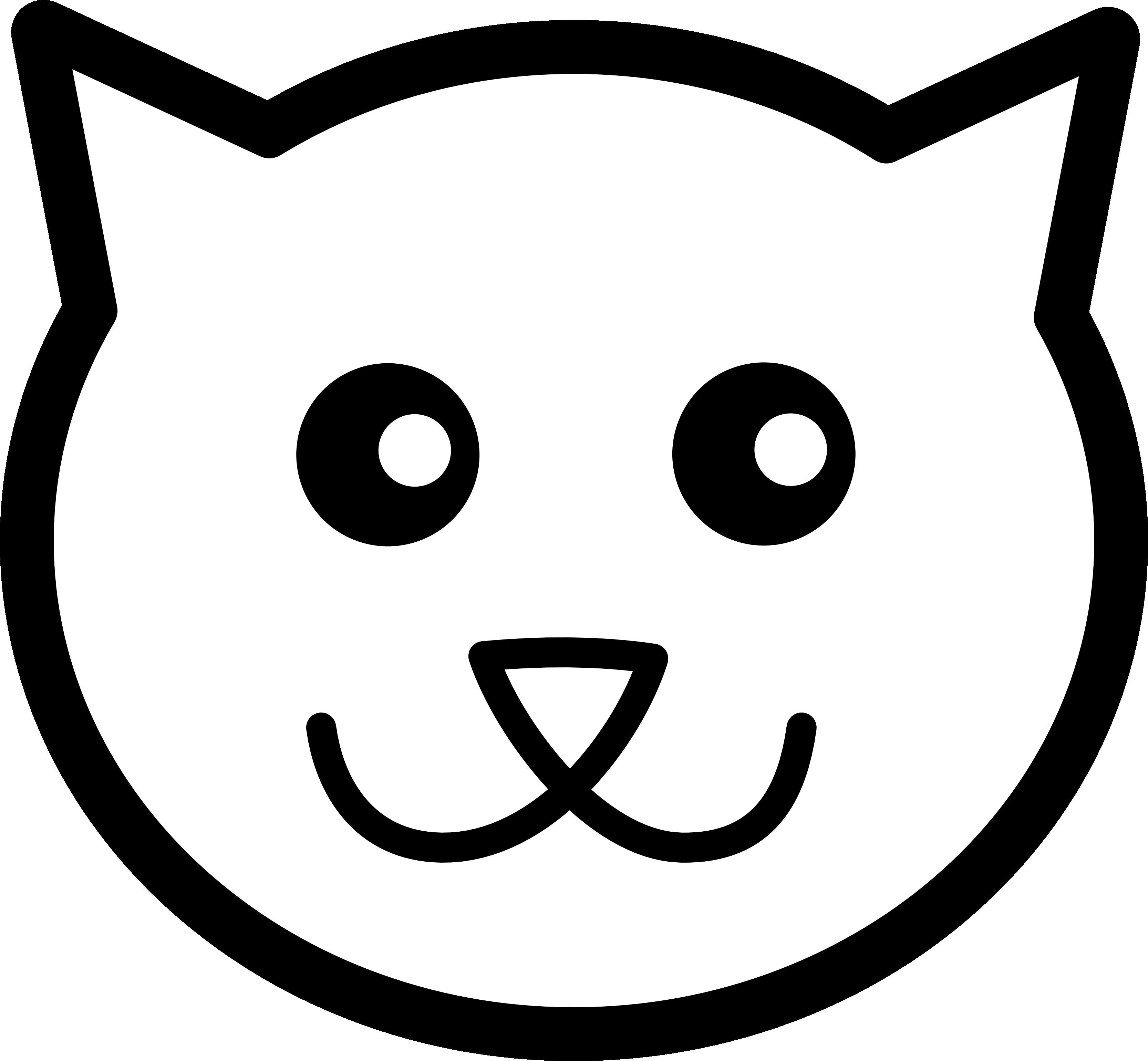 Black Cat clipart cat face Clip Free Art  Face