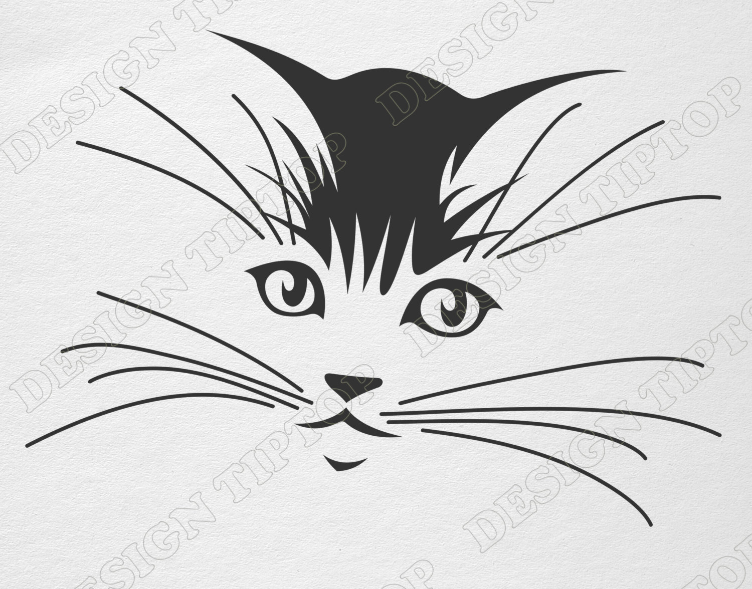 KITTENS clipart kitty face SVG clipart Png Etsy Cat