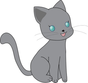KITTENS clipart little cat With Kitty Cute Grey Kitty
