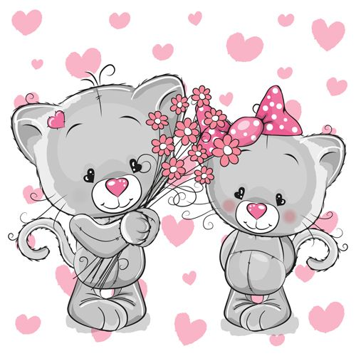KITTENS clipart love Cartoon with vector best about