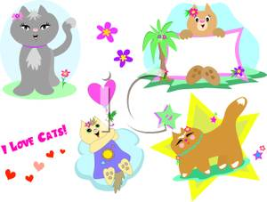 KITTENS clipart love Free Cats Them A Of