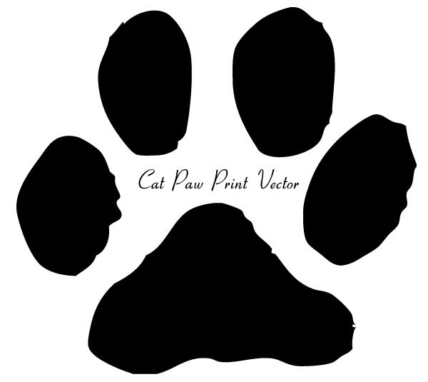 Wildcat clipart cat's paw Art art Paw Print clipart