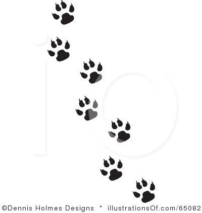 Wildcat clipart cat's paw Art art Paw Prints clipart