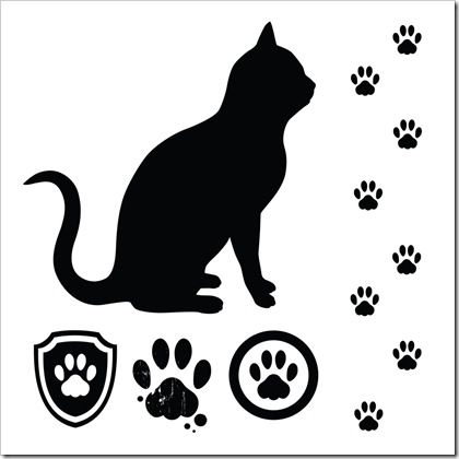 Wildcat clipart cat's paw Clip about Silhouettes Cat on