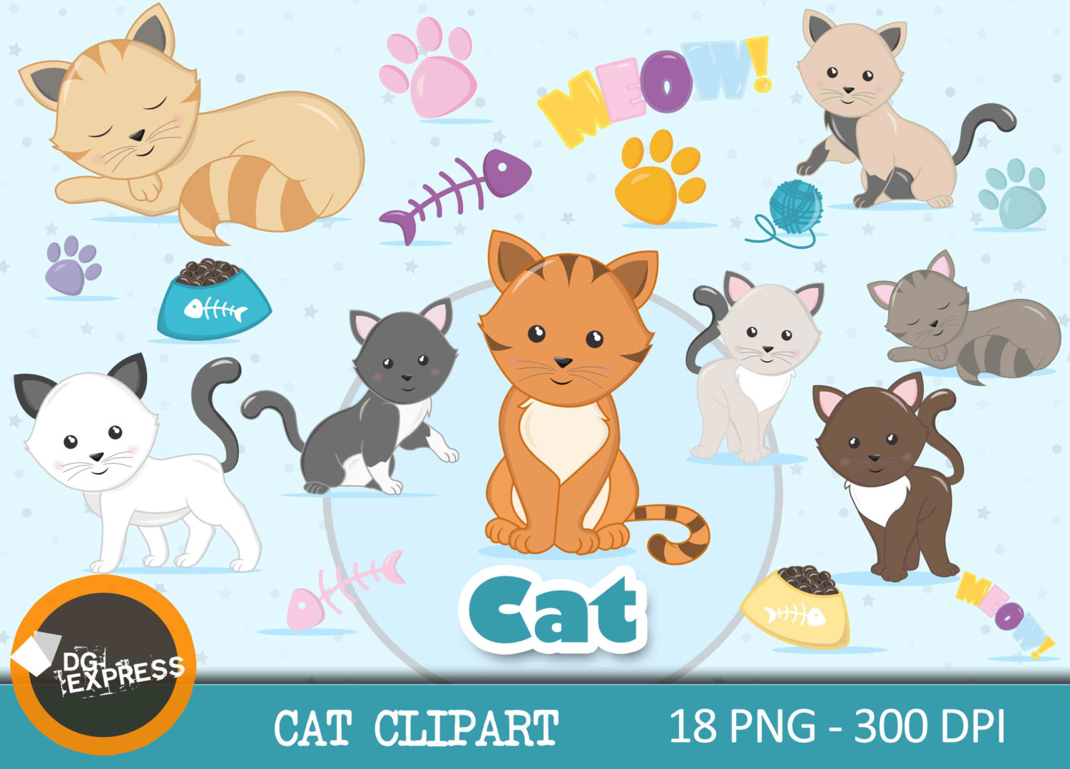 KITTENS clipart pet animal Kitty This Kitten Clipart