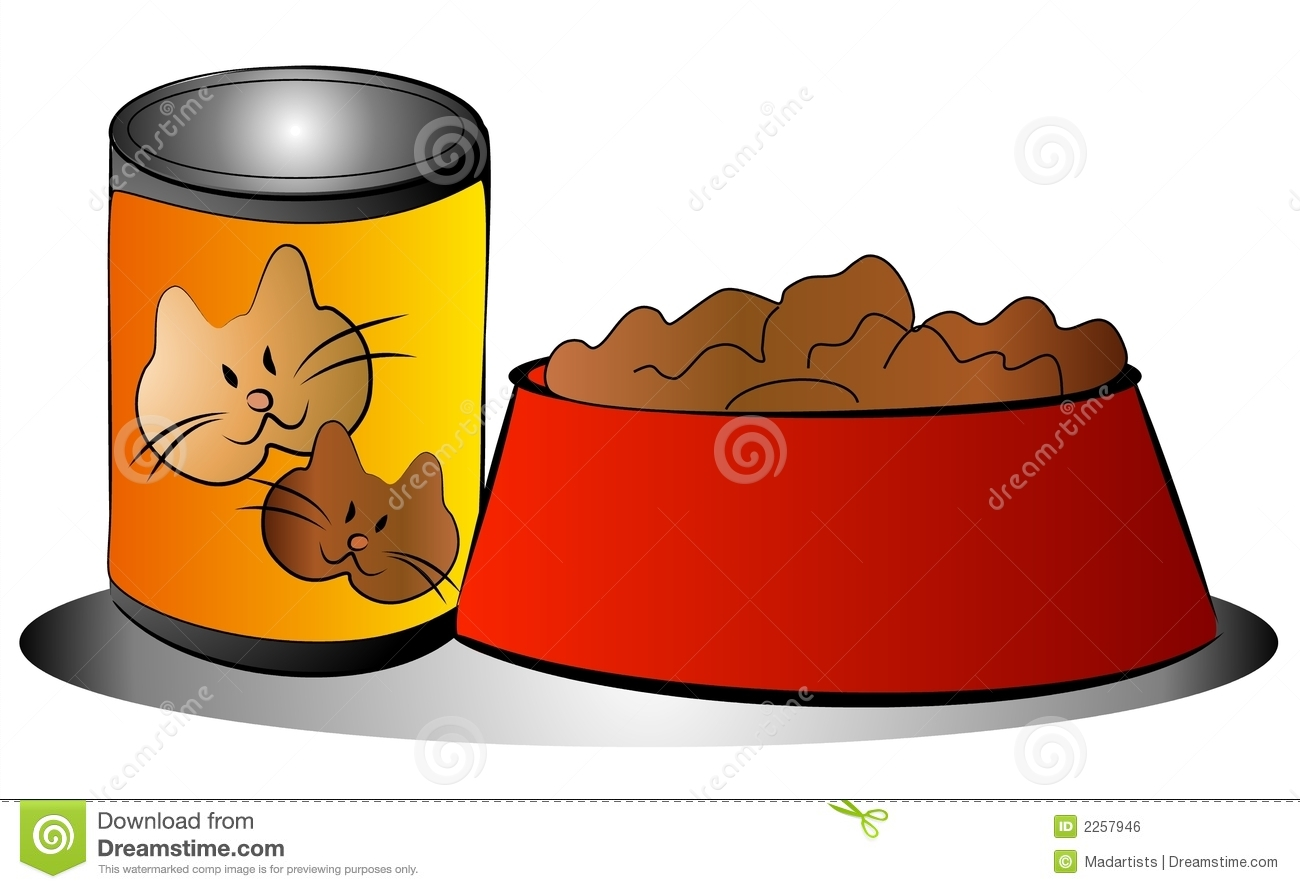 KITTENS clipart pet animal Pet bowl Can and Food