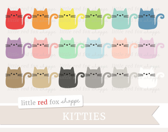 KITTENS clipart pet animal Whiskers Kitty  Cat Body