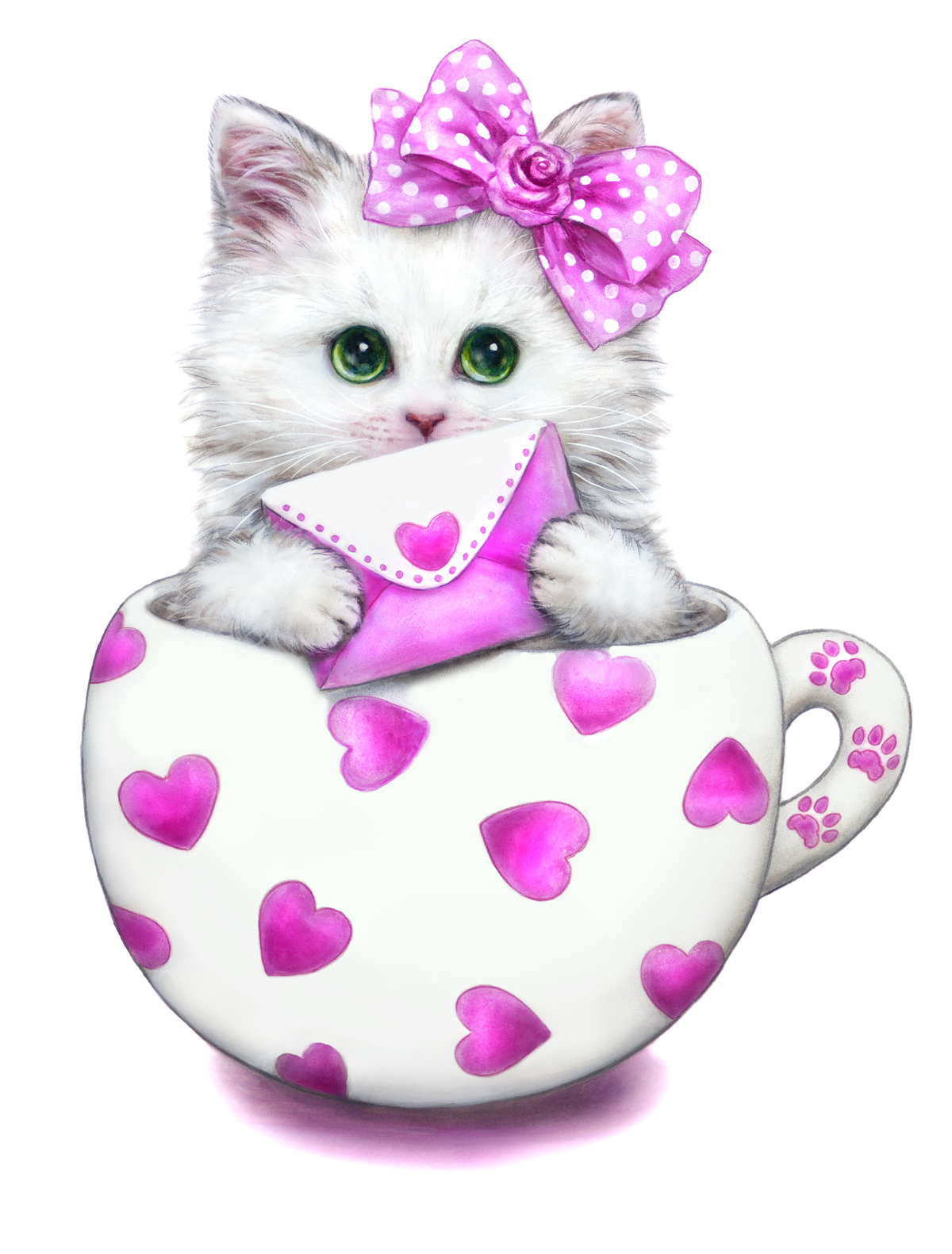 KITTENS clipart pink cat Ak0 BY great OUR VISIT