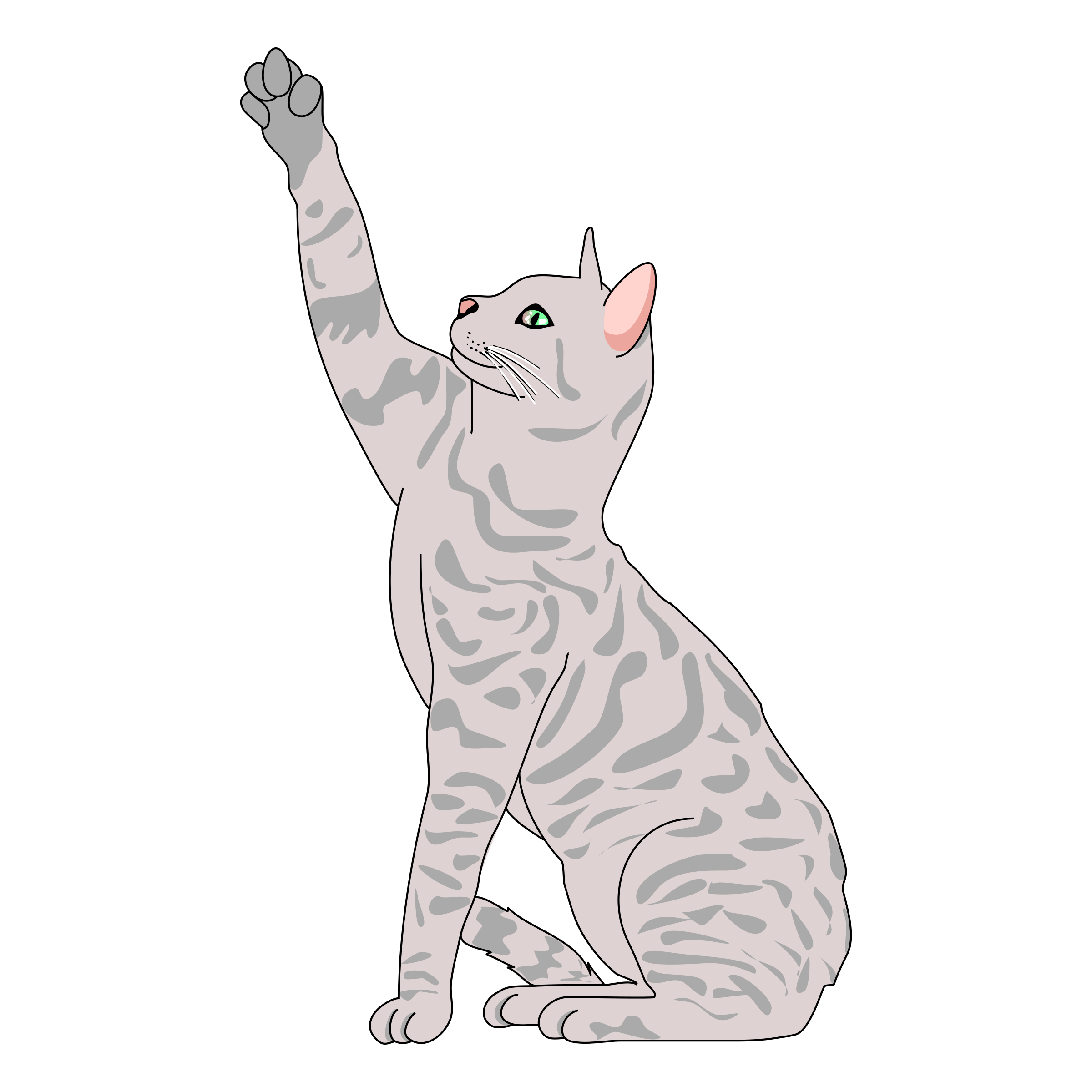 KITTENS clipart playful Cat Cat Clipart Side Pose