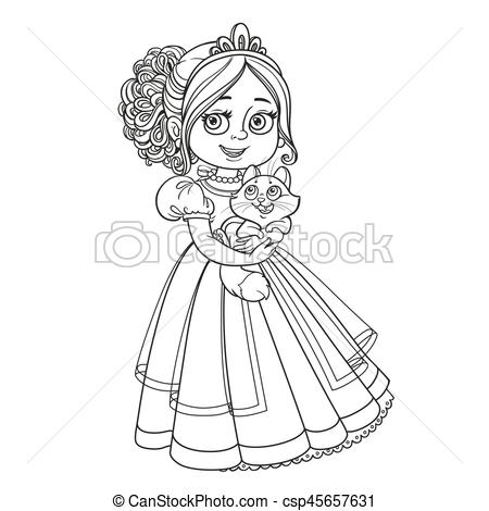 KITTENS clipart princess Of white coloring csp45657631 for
