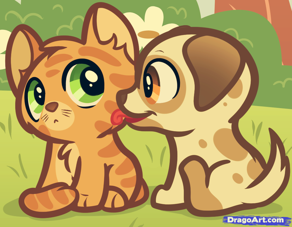 Drawn puppy cute anime kitty To how by Puppy puppy