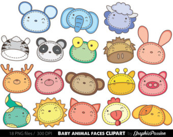 Zoo clipart forest animal Personal Zoo Faces Clipart Clip