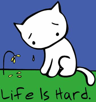 Sad clipart kitten #2