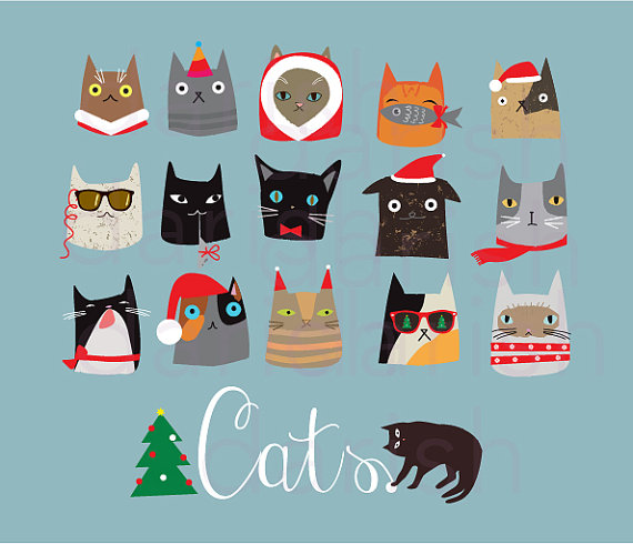 Cat clipart sofa Clip Christmas year Cat Clipart